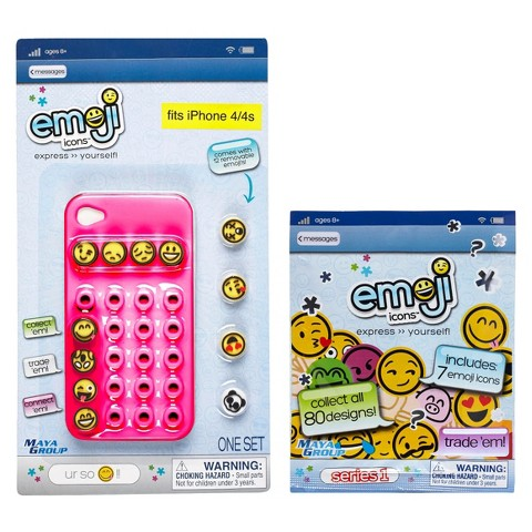 Emoji Icons™ Cell Phone Case iPhone 4/4s Bundle - Pink