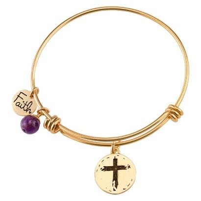 Stainless Steel Expandable Bracelet Faith - Gold