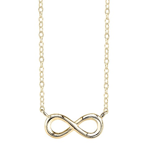 Gold Plated Over Sterling Silver Pendant Infinity