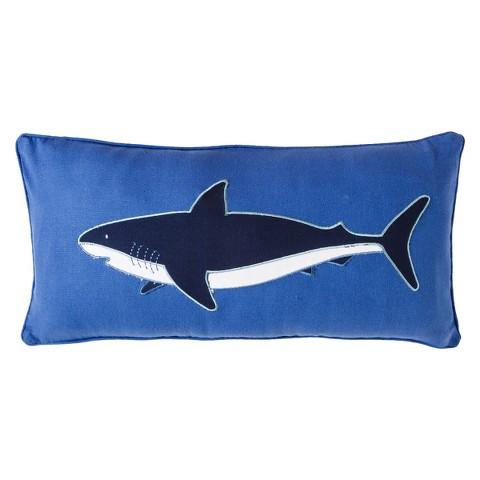 Kids Fiji Shark Pillow - Blue