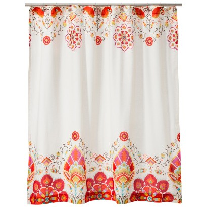 Mudhut™ Tamerin Shower Curtain - Orange/Light Cream