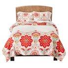 Mudhut™ Tamarin Quilt Set - Ivory/Red (Full/(Queen)