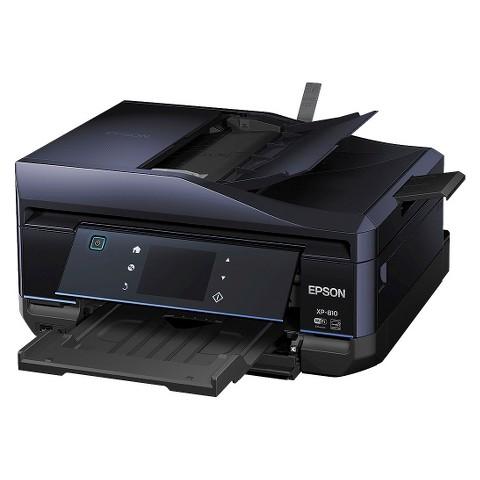 Epson Expression Home XP-810 Color Multifunction Inkjet Printer - Black (C11CD29201)