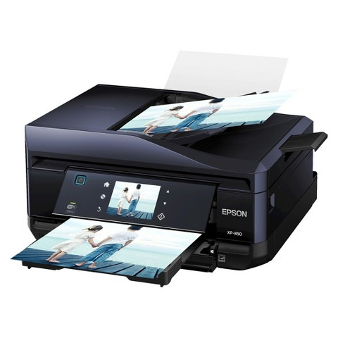 Epson Expression Home XP-850 Color Multifunction Inkjet Printer - Black (C11CC41201)
