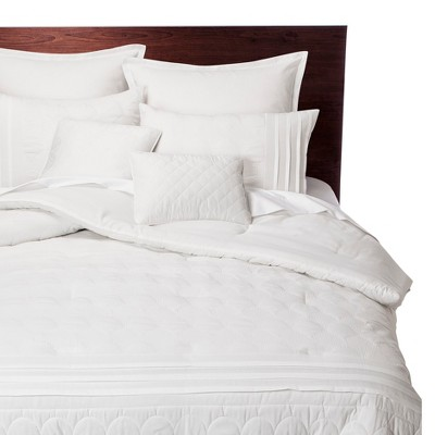 Colette 8 Piece Comforter Set - White (Queen)