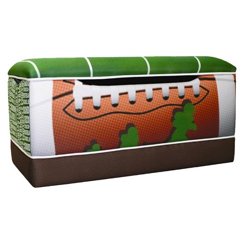 Komfy Kings Deluxe Toy Box -  Football 50 Yard Line