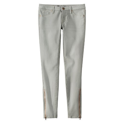 Mid-Rise Skinny Jeans Legging with Ankle Zipper - Mossimo®