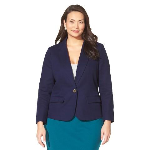 Women's Plus Size Tailored Basket weave Blazer-Merona®