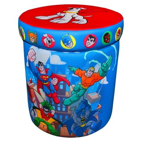Komfy Kings Mini Heroes Storage Ottoman - DC Super Friends