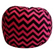 Newco Chevron Bean Bag - Pink/Black