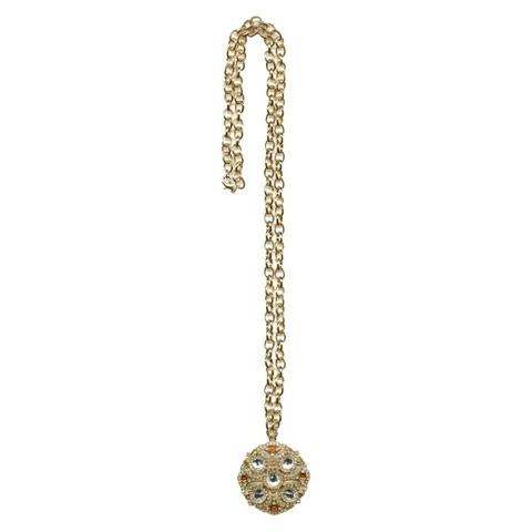 "Women's Fashion Necklace - Gold/Tortoise (36"")"