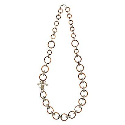 "Women's Fashion Necklace - Gold/Tortoise (30"")"