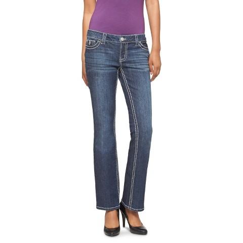 Low-Rise Bootcut Big Stitch Jeans - Dark Wash - Paisley Sky