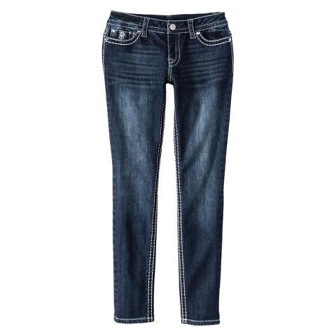 Low-Rise Skinny Big Stitch Jeans - Paisley Sky