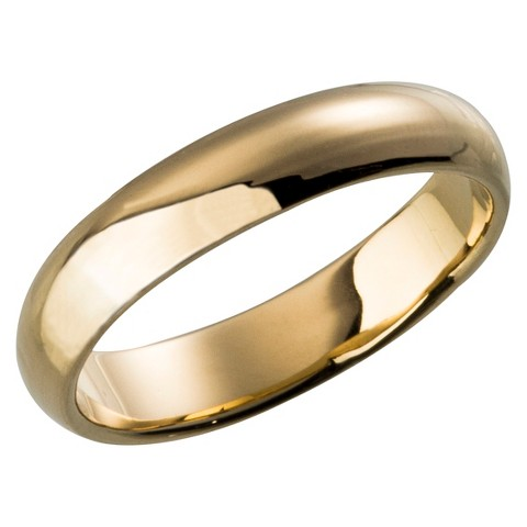 Plain Wedding Band Gold Plated Ring - Size 6