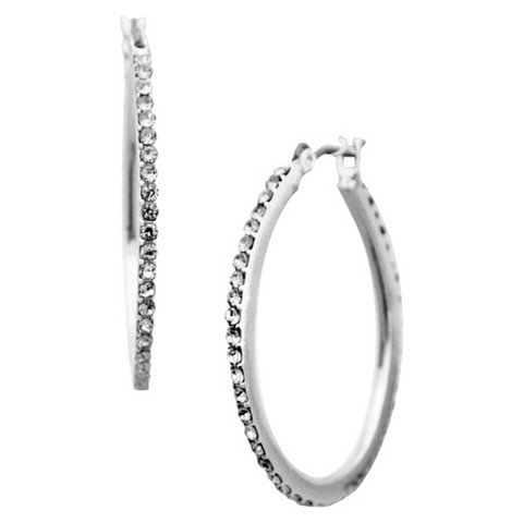Women's Fashion Hoop Earrings - Silver