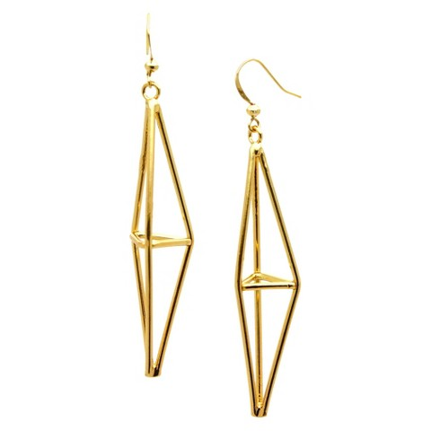 Women's Fashion Dangle Earrings - Gold