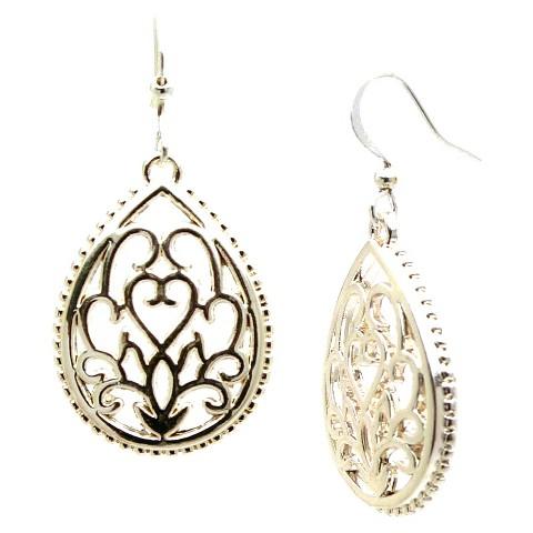 Women's Fashion Drop Earrings - Silver