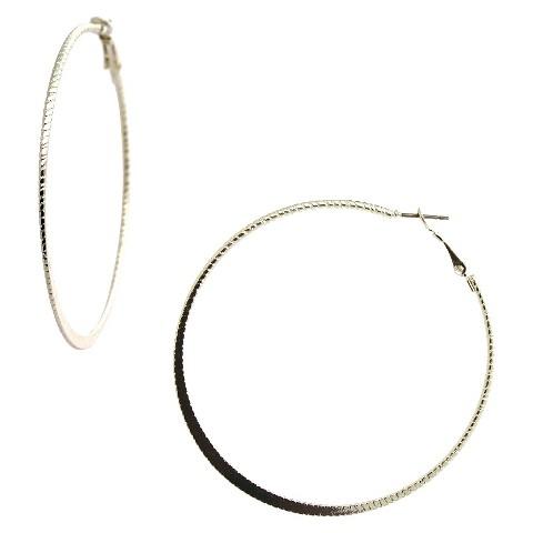 Women's Fashion Hoop Earrings - Silver