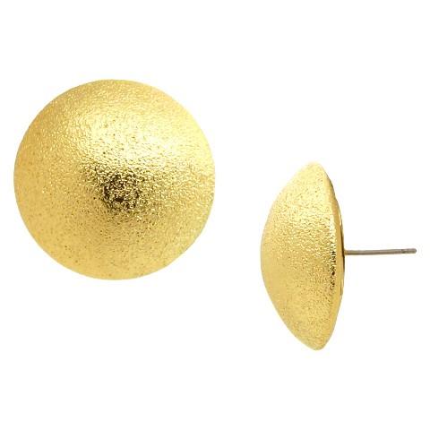Women's Fashion Button Earrings - Gold