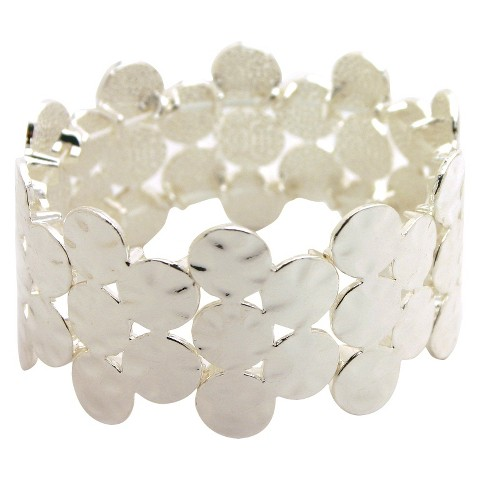 Women's Fashion Stretch Bracelet - Silver