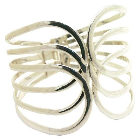 Women's Fashion Cuff Bracelet - Silver