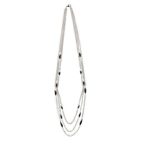 "Women's Fashion Statement Necklace - Silver(33"")"