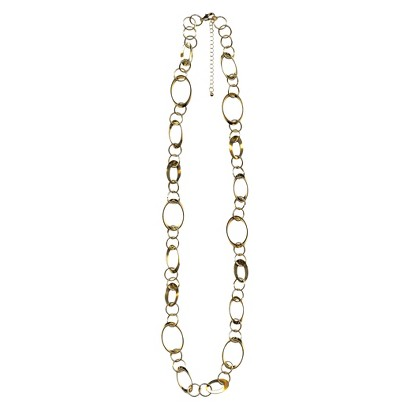 "Women's Fashion Long Necklace - Gold(34"")"