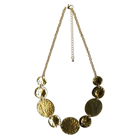"""Women's Fashion Station Necklace - Gold(18"""")"""