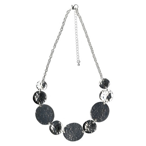 "Women's Fashion Station Necklace - Silver(18"")"