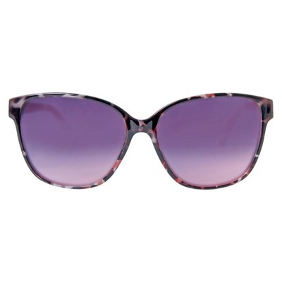 Women's Surf Sunglasses - Black Tortoise/Red