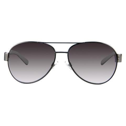 Women's Aviator Sunglasses - Gunmetal/ Black