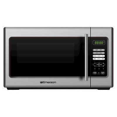 Emerson 0.9 Cu. Ft. 900 Watt Microwave Oven - Stainless Steel MW9338SB