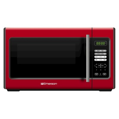 Emerson 0.9 Cu. Ft. 900 Watt Microwave Oven - Red MW9338RD