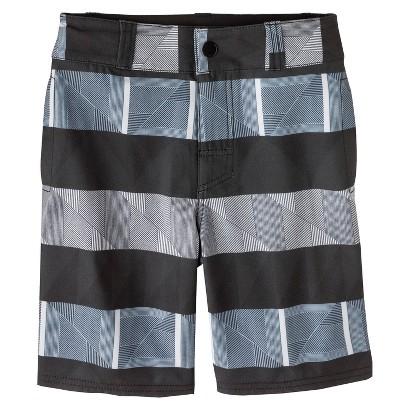 Boys' Striped Hybrid Swim Trunk