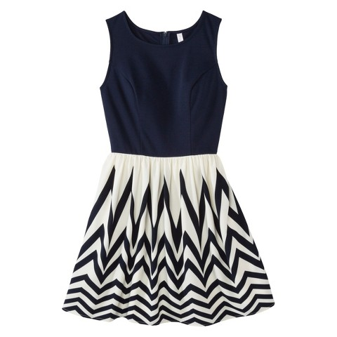 Knit to Woven Dress Navy - Xhilaration®