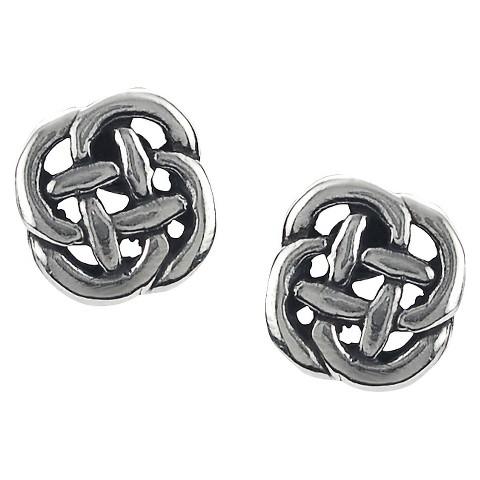 Sterling Silver Celtic Knot Stud Earrings - Silver