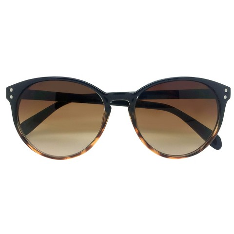 Women's Cateye Sunglasses - Black/Tortoise