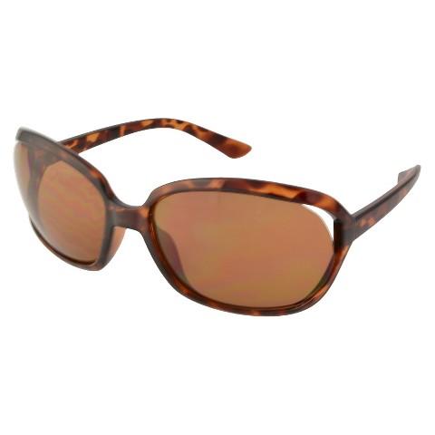 Women's Round Sunglasses - Brown/Black