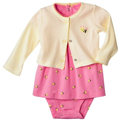 Just One You™Made by Carter's® Newborn Girls' 3 Piece Dress Set - Pink Bee