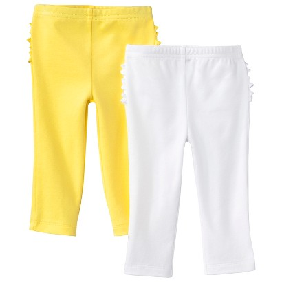 Just One You™Made by Carter's® Newborn Girl's 2 Pack Pant - Yellow/White