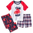 Just One You™ Made by Carter's® Infant Toddler Boys' 3-Piece Short-Sleeve Truck Pajama Set