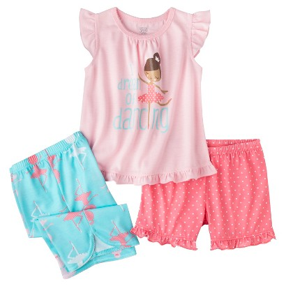 Just One You™ Made by Carter's® Infant Toddler Girls' 3-Piece Ballerina Pajama Set