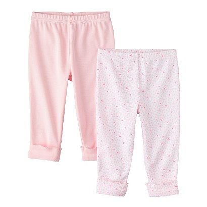 PRECIOUS FIRSTS™Made by Carters® Newborn Girls' 2 Pack Pant - Pink