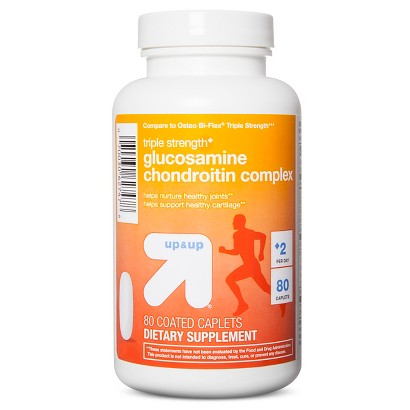up&up Triple Strength Glucosamine Chondroitin Coated Caplets - 80 Count
