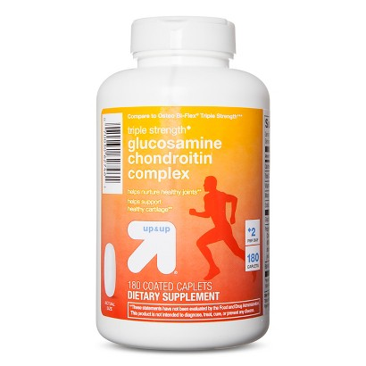 up&up Triple Strength Glucosamine Chondroitin Coated Caplets - 180 Count