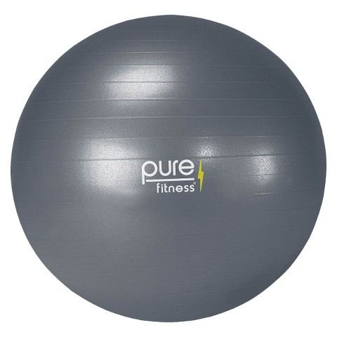 Pure Fitness® Fitness Ball with Pump - Gray ( 75cm )