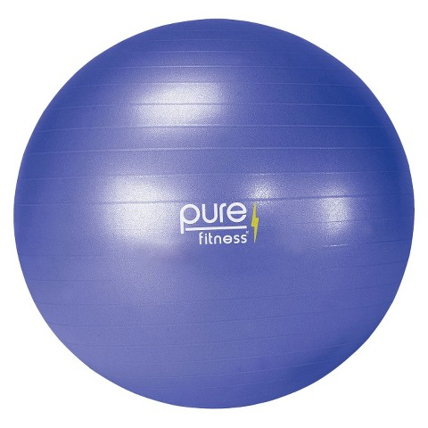 Pure Fitness® Fitness Ball with Pump - Blue ( 65cm )