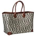 Merona® Diamond Print Tote Handbag - Black
