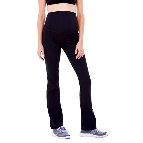BeMaternity® by Ingrid & Isabel® Active Black Pant with Crossover Panel